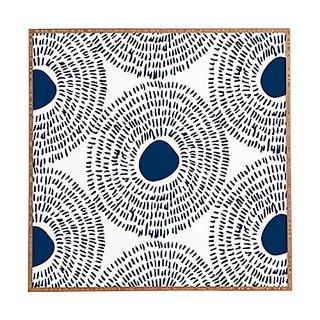 DENY Designs Framed Wall Art, Camilla Foss Circles In Blue Ii, Small