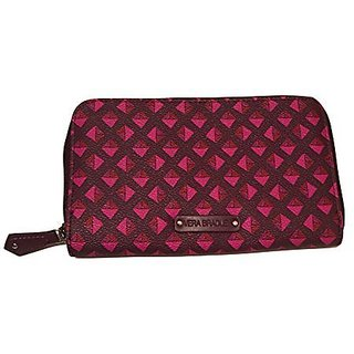 Vera Bradley BB Collection Accordion Zip Around in Plum Studs