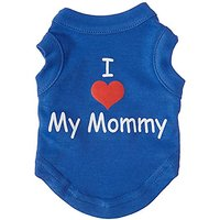 Mirage Pet Products 8-Inch I Love My Mommy Screen Print Shirts For Pets, X-Small, Blue