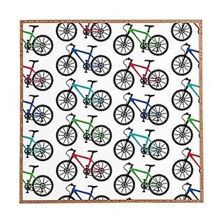 DENY Designs Framed Wall Art, Andi Bird Ride A Bike White, Medium