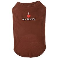 Mirage Pet Products 20-Inch I Love My Mommy Screen Print Shirts For Pets, 3X-Large, Brown