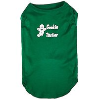 Mirage Pet Products 18-Inch Cookie Taster Screen Print Shirts For Pets, XX-Large, Emerald Green