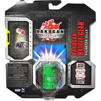 Spin Master Year 2010 Bakugan Gundalian Invaders Battle Gear Set - Double Jet Engine VILANTOR GEAR (silver) With 1 Abili
