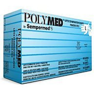 Sempermed Pm104 Polymed Latex Powder-free Exam Gloves Large (Pack of 100)