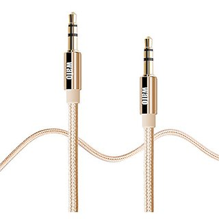 3.3Ft Walo Nylon 3.5mm Male to Male Premium Aux Cable , Auxiliary Audio Cable for Car / Home Stereos, Computer, Headphon