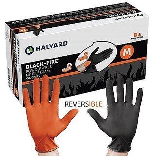 Halyard Health BLACK-FIRE Nitrile Exam Gloves (Large) 150 Gloves