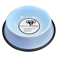 Platinum Pets 3-Cup Non-Embossed Non-Tip Dog Bowl, Sky Blue