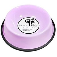 Platinum Pets Platinum Pets 3-Cup Non-Embossed Non-Tip Dog Bowl, Sweet Lilac