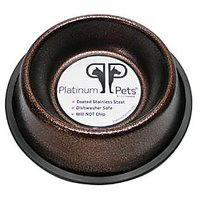 Platinum Pets 3 Cup Non-Embossed Non-Tip Dog Bowl, Copper Vein