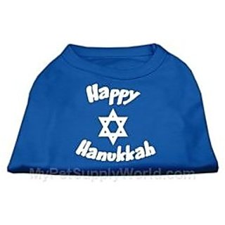 Mirage Pet Products 20-Inch Happy Hanukkah Screen Print Shirts for Pets, 3X-Large, Blue