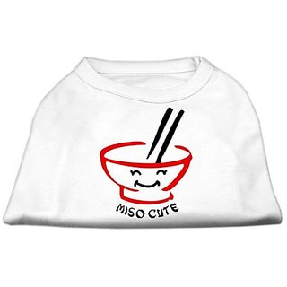 Mirage Pet Products 20-Inch Miso Cute Screen Print Shirts for Pets, 3X-Large, White
