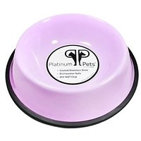 Platinum Pets Platinum Pets 1-Cup Non-Embossed Non-Tip Cat/Puppy Bowl, Sweet Lilac
