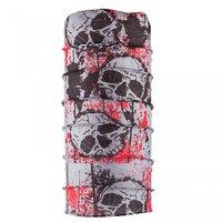 Autofy - Unisex -Red-BigSkulll - Lycra Headwrap/Bandana (Grey-Black)