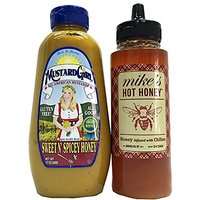 Mikes Hot Honey And Mustard Girl Sweet N Spicy Honey 2 Pack