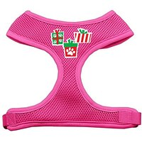 Mirage Pet Products Presents Screen Print Soft Mesh Dog Harnesses, Medium, Pink