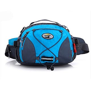 Multifunctional Waist Pack Handbag shoulder bag for Running Hiking Cycling Climbing Camping ,Blue
