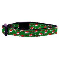 Mirage Pet Products Santa Hat Nylon Ribbon Collar For Dogs, Cat Safety
