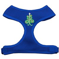 Mirage Pet Products Swirly Christmas Tree Screen Print Soft Mesh Dog Harnesses, X-Large, Blue