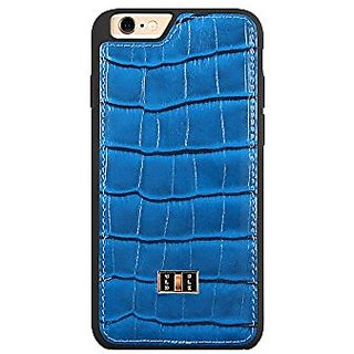 Gold Black Luxury iPhone 6/6s/6+ Leather Phone Cases (CROCO OCEAN BLUE 6/6s)