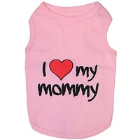 Parisian Pet I Love Mommy Dog T-Shirt, Medium, Pink