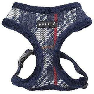 Puppia Eldric Harness-A for Pets, M lange Navy, X-Large