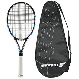 Babolat 2015-2016 Pure Drive Plus Tennis Racquet - STRUNG with COVER (4-1/8)