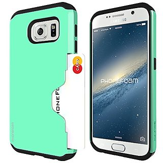 Phonefoam Fit Series Slim Wallet Case for Samsung Galaxy S6 (Mint)