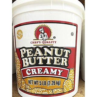 Chefs Quality 5 lb. Creamy Gourmet Peanut Butter Tub