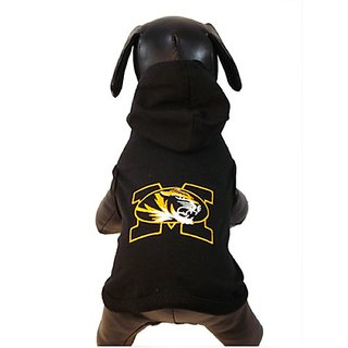 NCAA Missouri Tigers Collegiate Cotton Lycra Hooded Dog Shirt, Team Color, XX-Small