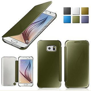 OSAN Cell Phone Flip Cover for Samsung Galaxy S6 - Green