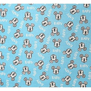 SheetWorld Fitted Crib / Toddler Sheet - Mickey Mouse Baby - Made In USA