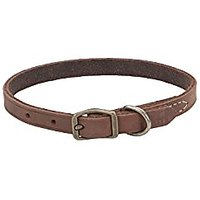 """Coastal Pet Products Circle T Rustic Leather Town Dog Collar, 3/8"""" X 10"""", Chocolate"""