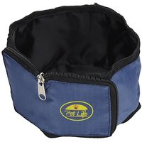 Pet Life Wallet Travel Pet Bowl In Blue
