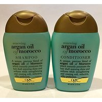 Organix: Purse / Travel Size, Moroccan Argan Oil Shampoo + Conditioner, 2 FL OZ (60 ML) Each-Combo Pack