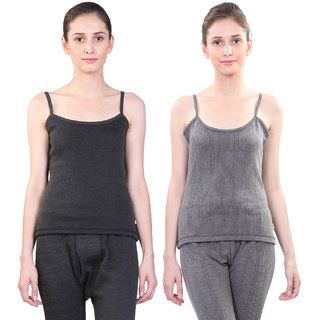 Vimal Winter Premium Black Thermal Camisole For Women(Pack Of 2)