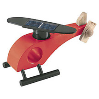 AviatorShopper Solar Helicopter Red