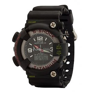 S Shock BLack Analog WIth Digital Sports Watches For Boy-Men By Eglob