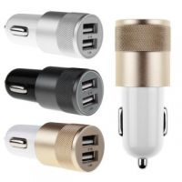 Bullet Car Charger Aluminium Metal Dual USB 2.1A Adapter For Mobile CODE gO-5758