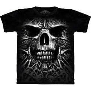 Black Cotton T-shirt For Mens