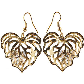 The99Jewel by JewelMaze Austrian Stone Gold Plated Dangle Earrings-FAC0108