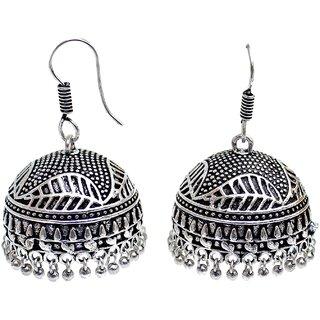 Silver Oxidised Jhumki