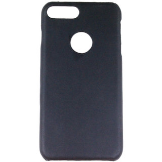 100 Microns Protective Leather Mobile Cover for I Phone 7 Plus   in Black colour
