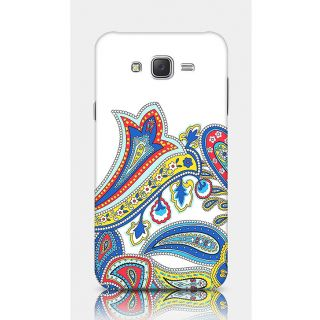 Crazyartshop Floral White Designer Back Case Cover For Samsung Galaxy J5