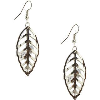 The99Jewel by JewelMaze Austrian Stone Rhodium Plated Dangle Earrings-FAC0124