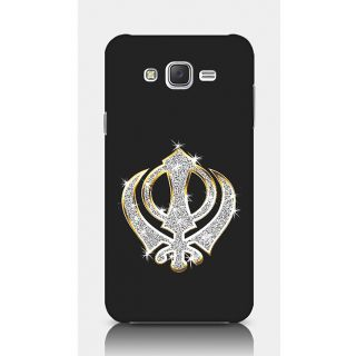 Crazyartshop Khanda Black Designer Back Case Cover For Samsung Galaxy J5