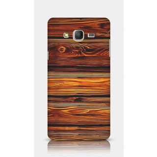 Crazyartshop Brown Wooden Designer Back Case Cover For Samsung Galaxy On7