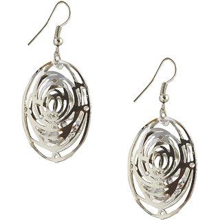 The99Jewel by JewelMaze Zinc Alloy Silver Plated Austrian Stone Dangle Earrings-FAC0258