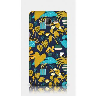 Crazyartshop Floral Blue Designer Back Case Cover For Samsung Galaxy On7
