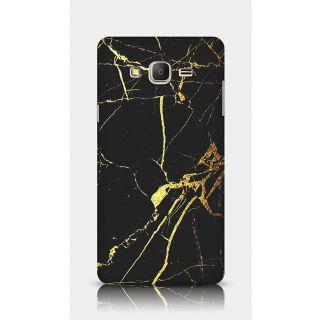 Crazyartshop Golden Black Marble Designer Back Case Cover For Samsung Galaxy On7