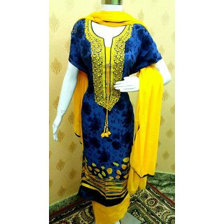 Creation Womens Embroidered Patiyala suit